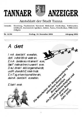 Amtsblatt Dezember 2004