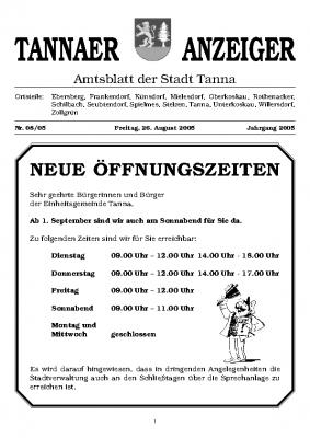 Amtsblatt August 2005