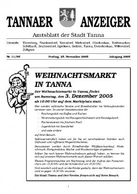 Amtsblatt November 2005